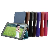 High Quality Crazy Horse Grain Magnetic 2 Fold Shell CaseFor ASUS Fonepad 7 FE170CG Smart Flip Leather Cover