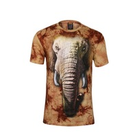 Elephant 3D T-shirt O-neck Adult Tshirts Men Animal Printed Casual Tees Tops Man M/L/XL/XXL