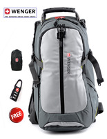 Wenger SwissGear laptop backpack camping bag  hiking bag for 15.4  inch laptop bag with rain cover 0927