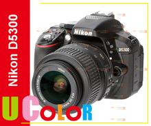Original New Nikon D5300 Digital SLR 24.2MP Black Camera with Nikkor 18-55mm VR Lens Kit(Hong Kong)