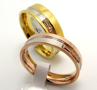 12 pcs Color mixing High Polished Comfort Fit Stainless Steel Fashion Lovers Ring Free shipping