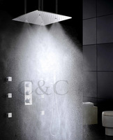 Atomizing And Rainfall Water Function 20 Inch Bath Shower Head Thermostatic Rainfall Bathroom Shower Faucet Set