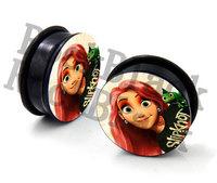 Cool girl  acrylic screw  ear plug flesh tunnel body jewelry  mixing 10 size MH14614