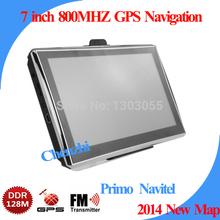 FREE SHIPING 7 inch Vehicle GPS CAR GPS navigation CPU MTK 800MHZ DDR128M navigator NAVITEL Russia 2014 lastest maps(China (Mainland))