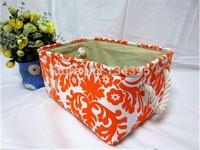 zakka cotton canvas linen fabric storage box storage box household finishing auspicious patterns waterproof storage barrels