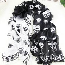 popular silk skull scarf
