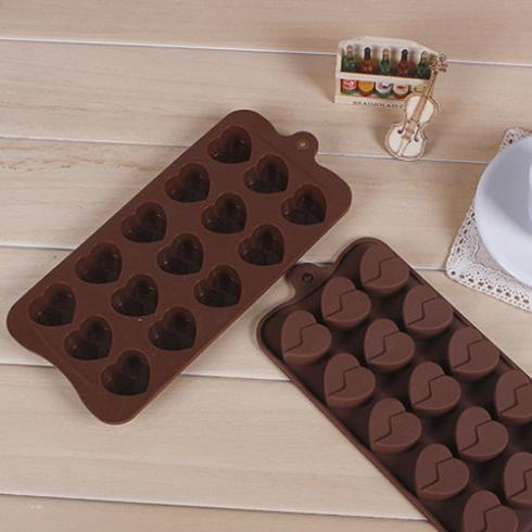 Coração de Chocolate do molde molde de Silicone bolo bolo cortador de ferramentas Cookie Fondant Bakeware(China (Mainland))