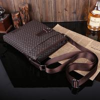 New arrived Male casual embossed bag plaid shoulder bag messenger bag business briefcase free shipping