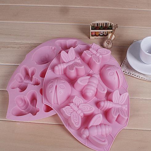 contínua 8 pequenos insetos silicone bolo bolo de molde de ferramentas pré-fabricadas bolo ferramentas(China (Mainland))