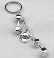 2014 design silver plated 25 lbs 11.3 kg discus dumbbell charms ring jewelry sporty