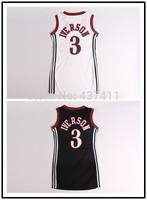 Allen Iverson Women Basketball Dress ,Philadelphia #3 Allen Iverson White Black New Rev 30 Basketball Sportswear Free Shipping