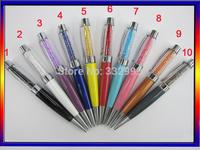 Crystal USB Pen New Diamond Ballpoint Metal Pen 8GB Rhinestone USB 2.0 Flash Drive Pen Memory Stick Disk Thumb Free Shipping