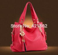 2014 New Hot Sales Fashion Women's Chain Decor Handbag Female Elegant PU Messenger Bag Lady Tote Shoulder Bag Sling Bag