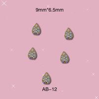 Wholesale  Free Shipping 3D Alloy Nail Water Drop Shape Cute DIY Nail Decorations 100pcs/lot