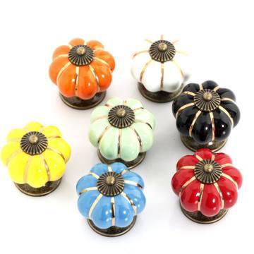 5pcs Free Shipping Pumpkin Shape Kitchen Bedroom Wardrobe Door Knobs Pull Handle Drawer(China (Mainland))