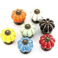 5pcs Free Shipping Pumpkin Shape Kitchen Bedroom Wardrobe Door Knobs Pull Handle Drawer