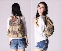 New arrive desigual canvas backpack bag print flower 2014 women shoulder bags  female  school bags