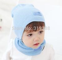 Kids Fashion Winter Cap Baby Girls/Boys Hat Warm Hat Children Hat and Scarf set 1set H346