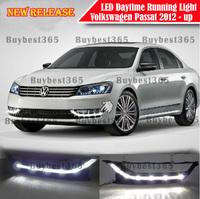 2x White LED DRL Daytime Running Light  Fog Lamp cover for Volkswagen PASSAT B7 USA Model 2012 2013 2014