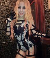 Winny 2014 new fashion dj costumes female singer ds costume paillette coverall
