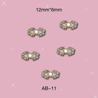 New Arrival Hotsale Fashion Sticker on Nails  Bow Tie  Alloy Nail 3D DIY  Nail Decorations with Rinestone 100pcs/lot