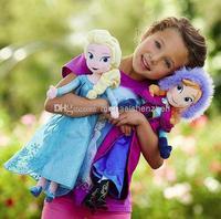 Wholesale - frozen dolls 50cm 19 inch elsa anna toy doll action figures plush toy frozen dolls
