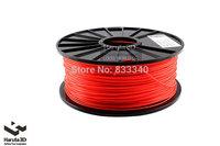 New Fluorenscence Red 3d printer filament PLA ABS 1.75mm 3mm 1kg/spool Wild Option for Makerbot/Reprap/Mendal