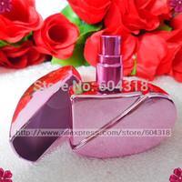 free shipping 6pcs/pack 25ml shiny fragrance diffuser heart shape bottle perfume sub bottle incense holder spray bottle empty