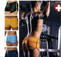 2Pcs/lot Andrew Christian Sexy Men's Brand underwear boxer low waist underwear breathable mesh men's Shorts Men New 2014