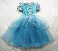 2014 Frozen Movie girls queen princess anna costume halloween cosplay party dresses for kids size gothic dress christmas costume