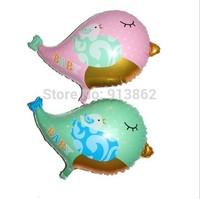 50 pcs Creative novelty Birds shape BALLOON Baby toys Birthday Wedding Party Decoration 55X66 cm Foil Helium Balloon
