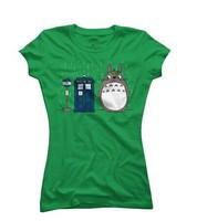 Cartoon Allons-y Totoro Women's Junior Fit T-shirt, Funny ladies shirts Design Junior's Tee