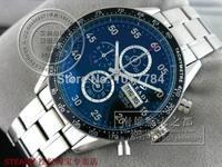 STEADY TG Black Dial Numeral Markers Black Bezel SS Strap Quartz Men's Watch