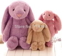 30cm Lovely Bunny Rabbit Doll Lavender Long Ears Rabbit plush toy doll kids toys Girls Birthday Gift free shipping