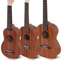 """High quality 21"""" mini size KAKA Laminated Mahogany Soprano 4 String ukulele Acoustic Instrument ukelele Free Shipping"""