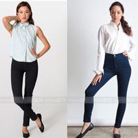 aa fashion 2014 vintage hip slim high waist jeans trousers pencil pants women's jeans female Elastic black blue