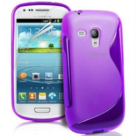 For Samsung Galaxy Trend Duos GT-S7580 Case Cover S7580 S Line Wave Gel Case + S7580 Screen protector film