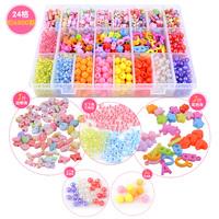 Jewelry Making DIY Pick 19 ColorsChild puzzle diy handmade beaded toy jewelry bracelet baby bead