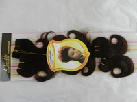 synthetic hair extension synthetic hair weave 2# fashion lady hair weft  AFRO-A 6PCS free shipping !! wholesale !