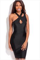 Coloful New Designer Women Hollow Bodycon Party Dress Sexy Club Wear Bandage Dresses mulheres vestido bandagem M L size