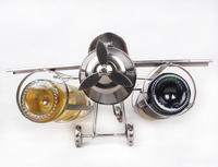 Creative Metal Iron Art Handmade Airplane Model Grape Wine Bottle Rack Holder Barware Adornment Craft Accessories Furnishing