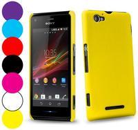 Colors Hard Case For Sony C1905 C1904 Experia Xperia M Soft Matte Back Cover Skin + Screen Film