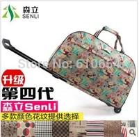 Waterproof duffel bag brown mass of men and women cute retro travel luggage trolley case