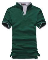 2014 Active Twill Polyester Lycra V-neck Wholesale Mens Cotton Multi-color Shirt Short Sleeve Shirts