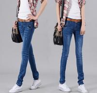 New design fashion style skinny pencil woman jeans high waist denim leggings promotion,brand ladies' jeans female trousers