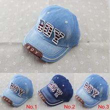 2014 new kids cotton caps boys baseball caps summer jean hats children caps girls baseball cap 3-8 ages baby hat children hat(China (Mainland))