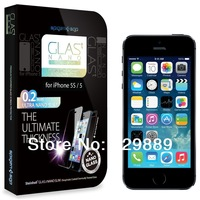 0.2mm Ultra Nano Slim Glass Spigen GLAS.t SLIM Tempered Glass Screen Protector For Iphone 5 5C 5S--