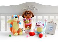 Genuine love adventure of Dora, monkey Boots, Swiper dolls plush toys Children's Day gift