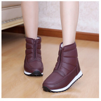 Free shipping New 2014 women shoes Middle-aged boots Waterproof thick wedge bottom elderly women warm cotton short winter boots