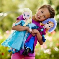 8PCS/lot,2014 New Arriving!free shipping,high quality,20inch Elsa & Anna frozen Plush Dolls toys,Brinquedos Kids Dolls for Girls